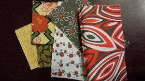 The fabrics I chose for the ka hieroglyph.