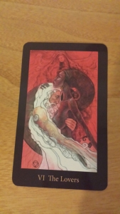 The Lovers card from the Mary-El Tarot deck.